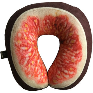 Lushomes Mouthwatering Fig U-Shaped Fruit Pillows (Single pc packed in a PVC bag 35 x 35 Cms)