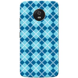 Moto G5 Case, Dark Light Blue Checks Slim Fit Hard Case Cover/Back Cover for Motorola Moto G5/Moto G 5th Gen