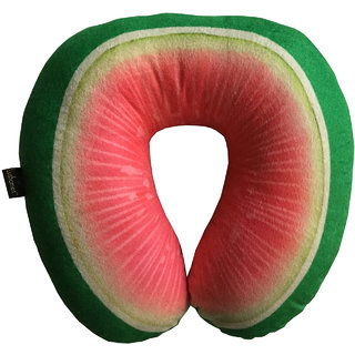 Lushomes Mouthwatering Guava U-Shaped Fruit Pillows (Single pc packed in a PVC bag 35 x 35 Cms)