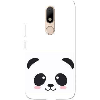 sports shoes 308ff 5f437 Moto M Case, Black Cute Panda White Slim Fit Hard Case Cover/Back Cover for  Motorola Moto M