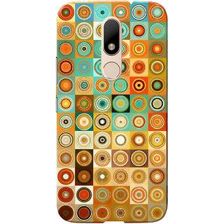 Moto M Case, Multi Color Circles Slim Fit Hard Case Cover/Back Cover for Motorola Moto M