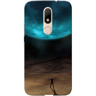 Moto M Case, Eclipse Turquoise Brown Slim Fit Hard Case Cover/Back Cover for Motorola Moto M