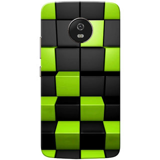Moto G5 Case, Cubes Black Neon Slim Fit Hard Case Cover/Back Cover for Motorola Moto G5/Moto G 5th Gen