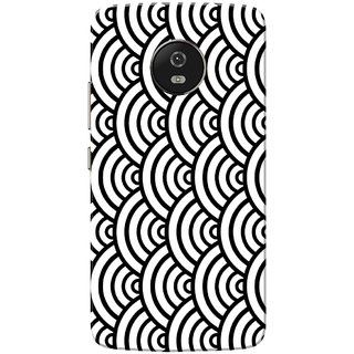 Moto G5 Case, Half Circles Pattern Black White Slim Fit Hard Case Cover/Back Cover for Motorola Moto G5/Moto G 5th Gen