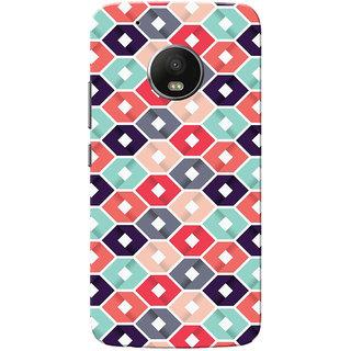 Moto G5 Plus Case, Multi Square Slim Fit Hard Case Cover/Back Cover for Motorola Moto G5 Plus