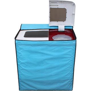 Glassiano SkyBlue Colored Washing Machine Cover for Sansui Semi Automatic all models
