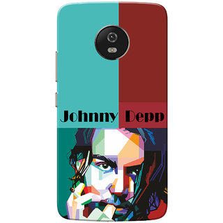 Moto G5 Case, Johnny Deep Green Red Slim Fit Hard Case Cover/Back Cover for Motorola Moto G5/Moto G 5th Gen
