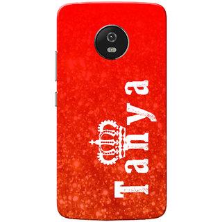 Moto G5 Case, Tanya Red Slim Fit Hard Case Cover/Back Cover for Motorola Moto G5/Moto G 5th Gen