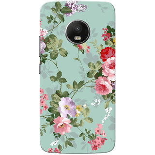 Moto G5 Plus Case, Floral Slim Fit Hard Case Cover/Back Cover for Motorola Moto G5 Plus