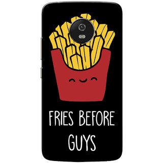 Moto G5 Case, Fries Before Guys Black Slim Fit Hard Case Cover/Back Cover for Motorola Moto G5/Moto G 5th Gen