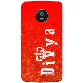 Moto G5 Case, Divya Red Slim Fit Hard Case Cover/Back Cover for Motorola Moto G5/Moto G 5th Gen