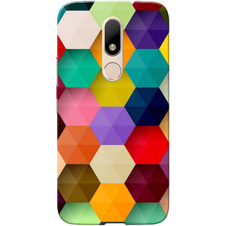 Moto M Case, Multi Hexagon design Slim Fit Hard Case Cover/Back Cover for Motorola Moto M