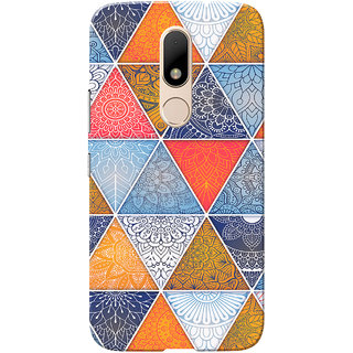Moto M Case, Multi Triangle Slim Fit Hard Case Cover/Back Cover for Motorola Moto M