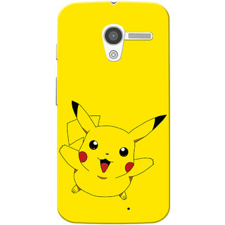 Moto X 2013 Case, Piikachu Slim Fit Hard Case Cover/Back Cover for Motorola Moto X 2013
