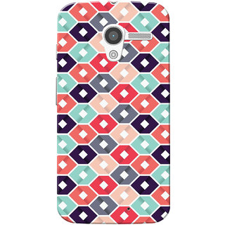 Moto X 2013 Case, Multi Square Slim Fit Hard Case Cover/Back Cover for Motorola Moto X 2013
