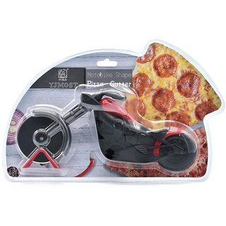 Motobike Shape Pizza Cutter - Red/Black