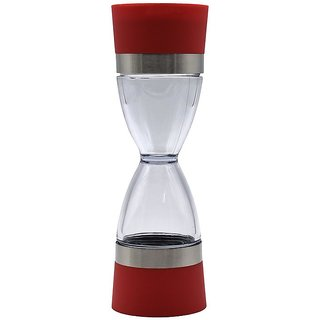 Salt and Pepper Grinder Clear Acrylic Body - Red