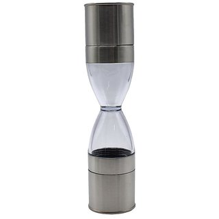 Salt and Pepper Grinder Clear Acrylic Body - Stainless Steel