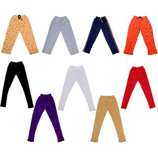 IndiWeaves Boys Combo Pack(Pack of 2 Solid and 2 Printed Lower/Tarck Pants With 5 Cotton Leggings)_Multicolor_2-3 Years_360010911137140102030405-IW-P9-22