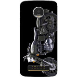 Moto Z Play Case, Grey Bul Black Slim Fit Hard Case Cover/Back Cover for Motorola Moto Z Play