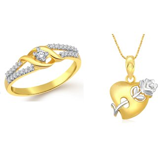 Classic Rose Heart Gift Combo for Women Size 16 [CJ3095COM16]