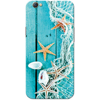 Oppo F3 Case, Star Fish Blue Slim Fit Hard Case Cover/Back Cover for OPPO F3
