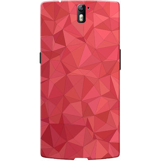 OnePlus One Case, One Plus One Case, Red Crystal Print Slim Fit Hard Case Cover/Back Cover for OnePlus One