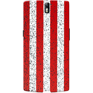 OnePlus One Case, One Plus One Case, Red-White Strips Slim Fit Hard Case Cover/Back Cover for OnePlus One