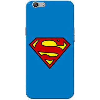Oppo F1S Case, Supermn Blue Slim Fit Hard Case Cover/Back Cover for OPPO F1s