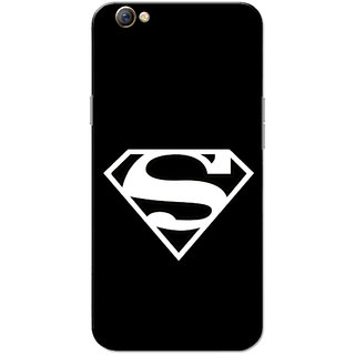 Oppo F3 Case, Supermn Black Slim Fit Hard Case Cover/Back Cover for OPPO F3
