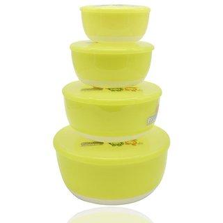 Fruits Salad Bowl Set of 4 - Green