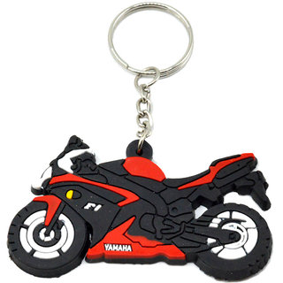 Faynci Yamaha F1 Bike Logo Silicone Red/Black/White Key Chain