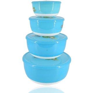Fruits Salad Bowl Set of 4 - Blue