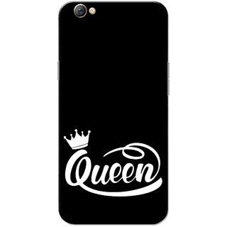 Oppo F3 Case, Queen Black White Slim Fit Hard Case Cover/Back Cover for OPPO F3