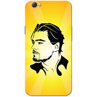 Oppo F3 Case, Leonardo Dicaprio Yellow Black Slim Fit Hard Case Cover/Back Cover for OPPO F3