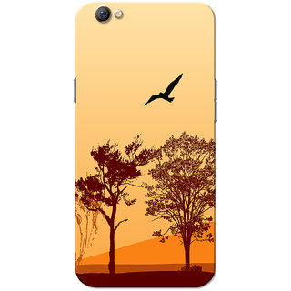 Oppo F3 Case, Forest Potrait Orange Brown Slim Fit Hard Case Cover/Back Cover for OPPO F3