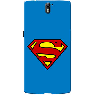 OnePlus One Case, One Plus One Case, Supermn Blue Slim Fit Hard Case Cover/Back Cover for OnePlus One