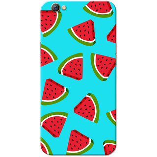 Oppo F3 Case, Watermelon Blue Slim Fit Hard Case Cover/Back Cover for OPPO F3