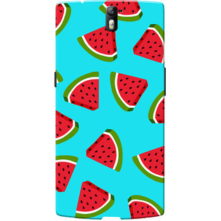 OnePlus One Case, One Plus One Case, Watermelon Blue Slim Fit Hard Case Cover/Back Cover for OnePlus One