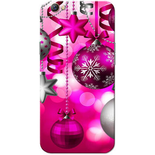 Oppo F3 Case, Chirstmas Pink Slim Fit Hard Case Cover/Back Cover for OPPO F3