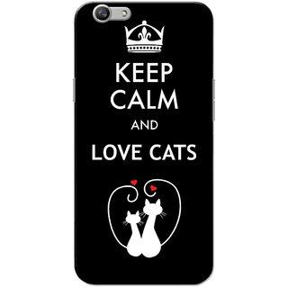 Oppo F1S Case, Love Cats Black Slim Fit Hard Case Cover/Back Cover for OPPO F1s