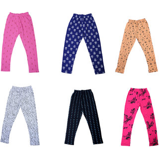 IndiWeaves Girls Super Soft and Stylish Cotton Printed Churidar Legging(Pack of 6)_Multicolor_1-3 Years_714192135363738-IW-P6-22