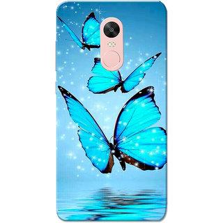 Redmi Note 4, Redmi Note 4X Case, Butterflies Blue Slim Fit Hard Case Cover/Back Cover for Redmi Note 4/Redmi Note 4X
