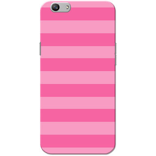 buy online d1f38 97d57 Oppo F1S Case, Pink Strips Slim Fit Hard Case Cover/Back Cover for OPPO F1s