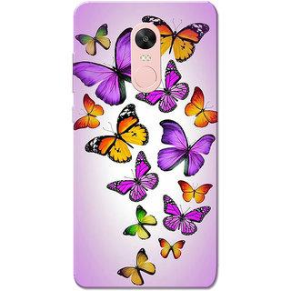 Redmi Note 4, Redmi Note 4X Case, Butterflies Purple Slim Fit Hard Case Cover/Back Cover for Redmi Note 4/Redmi Note 4X