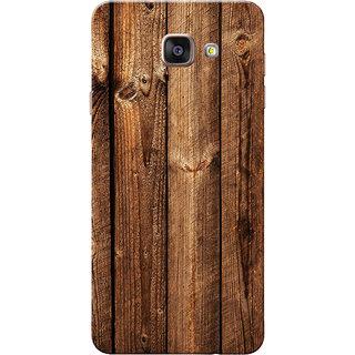 Galaxy A7 2016 Case, Galaxy A710 Case, Dark Brown Wood Slim Fit Hard Case