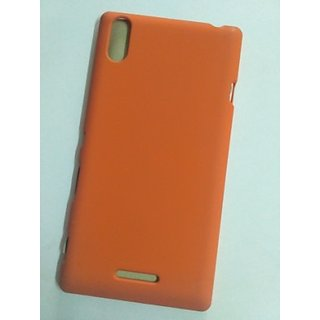 BRETAIL Fancy Hard Plastic Back Case Cover For SONY EXPERIA XPERIA T3 (ORANGE)