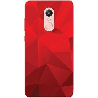 Redmi Note 4, Redmi Note 4X Case, Dark Red Crystal Print Slim Fit Hard Case Cover/Back Cover for Redmi Note 4/Redmi Note 4X