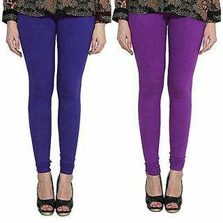 Alishah Cotton Lycra Premium Leggings For Women And Girl Ink Blue Purple