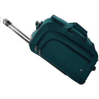 Novex Solo 56 cms 2 Wheel Green Expandable Duffle Trolley Bag